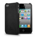 SGP iPhone 4 Nature Just Leather Case Series [Nature Black] (SGP07980)